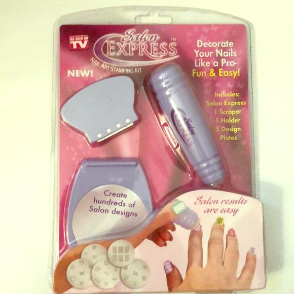Accessories | Salon Express Nail Art Stamping Kit | Poshmark